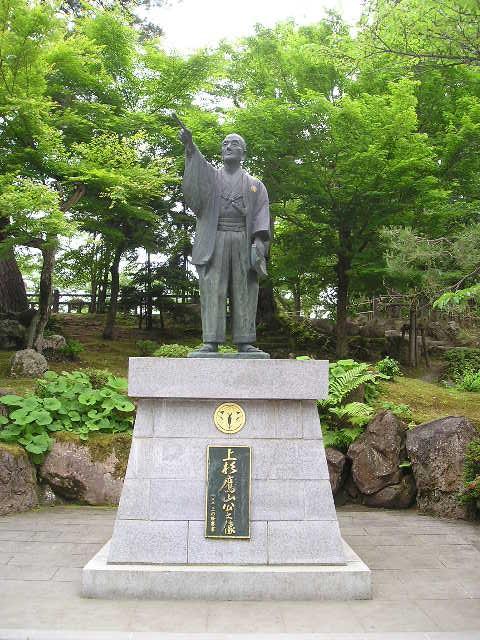 上杉 鷹山(うえすぎ ようざん)の銅像