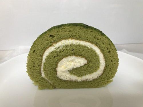 画像宇治抹茶ロールケーキの断面