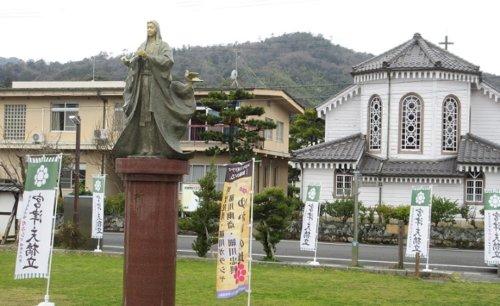 細川ガラシャ(明智玉子)の銅像