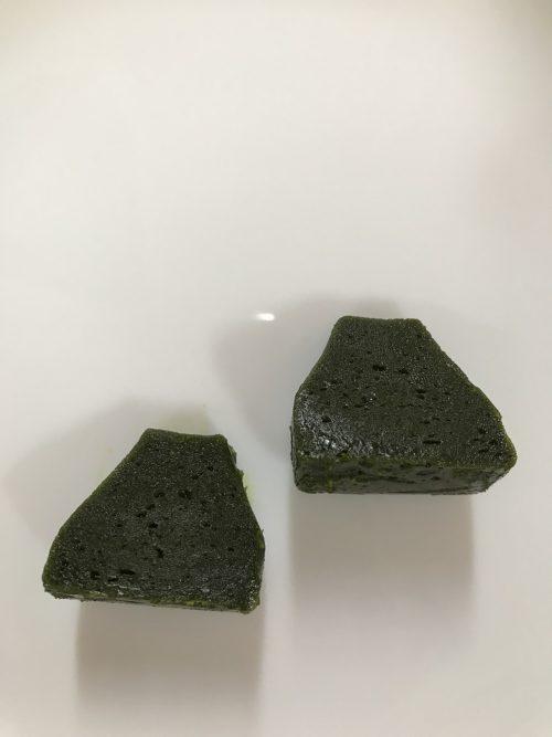 お濃茶フォンダンショコラ 生茶の菓の断面図
