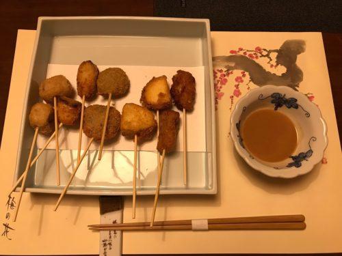 画像梅の花の串カツ五種