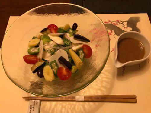 画像梅の花 の夏の豆腐サラダ