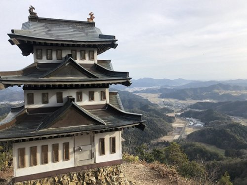 ミニ大桑城(模型ミニ天守閣)