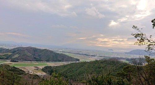 小谷城郭跡からの景色