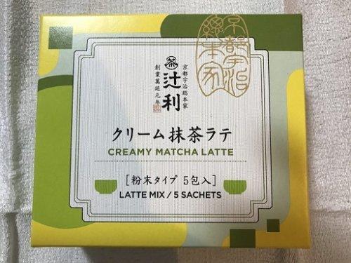 辻利のクリーム抹茶ラテの箱