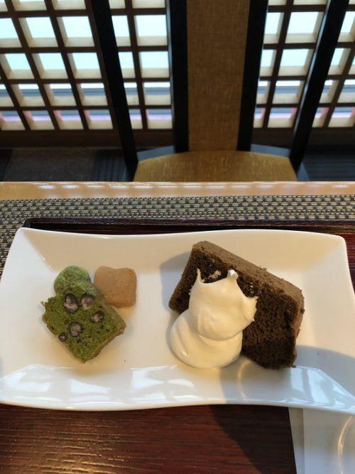 福寿園のケーキセット