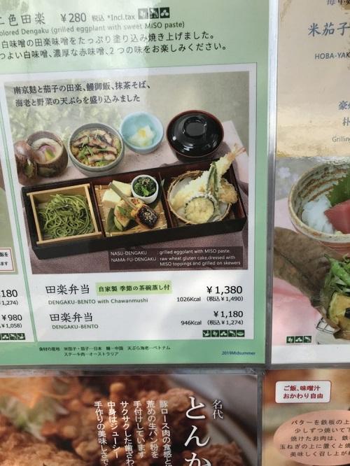 田楽弁当の看板