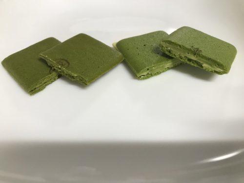 「涼 茶の菓」と「茶の菓子」の断面